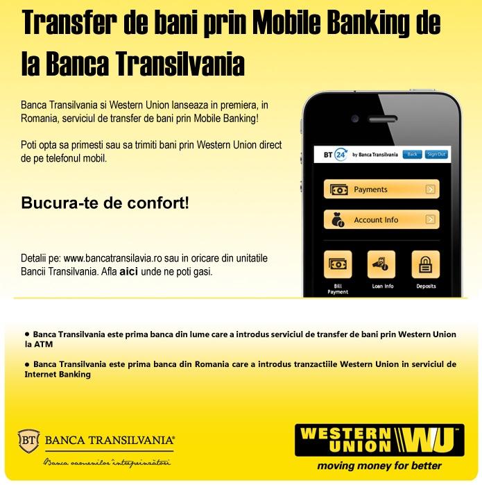 Poza Transfer de bani prin Mobile Banking Banca Transilvania