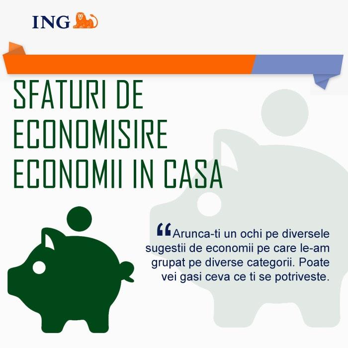 Poza Sfaturi de economisire de la ING (I - Economii in casa )