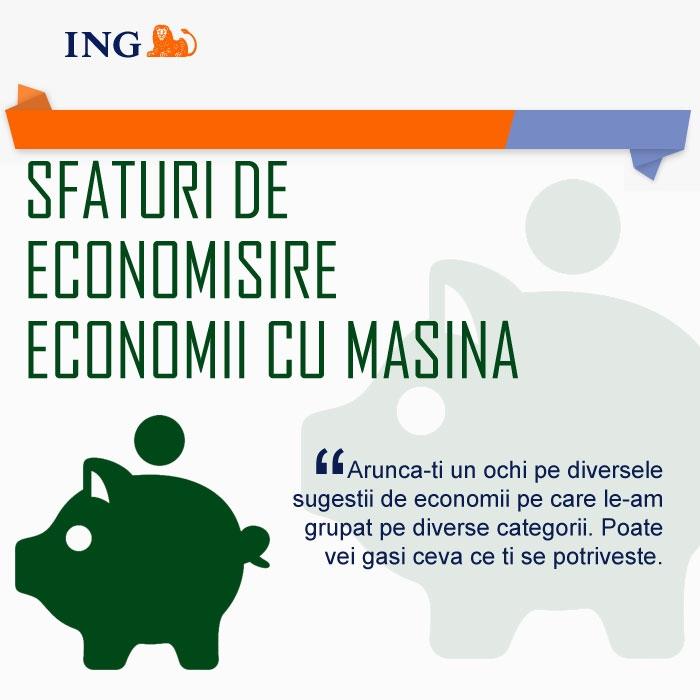 Poza Sfaturi de economisire de la ING (II - Economii cu masina )