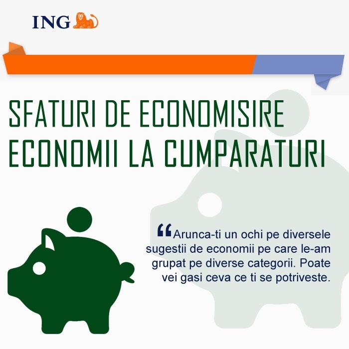 Poza Sfaturi de economisire de la ING (III - Economii la cumparaturi )