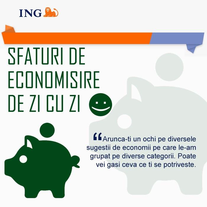 Poza Sfaturi de economisire de la ING (IV - Economii de zi cu zi )