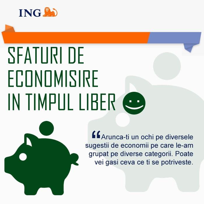 Poza Sfaturi de economisire de la ING (V - Economii in timpul liber )