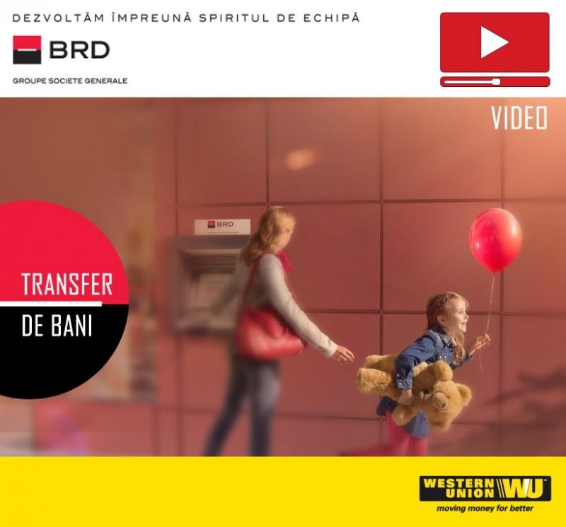 Poza VIDEO - Acum mai simplu! Transfer bani prin Western Union si BRD direct de la ATM