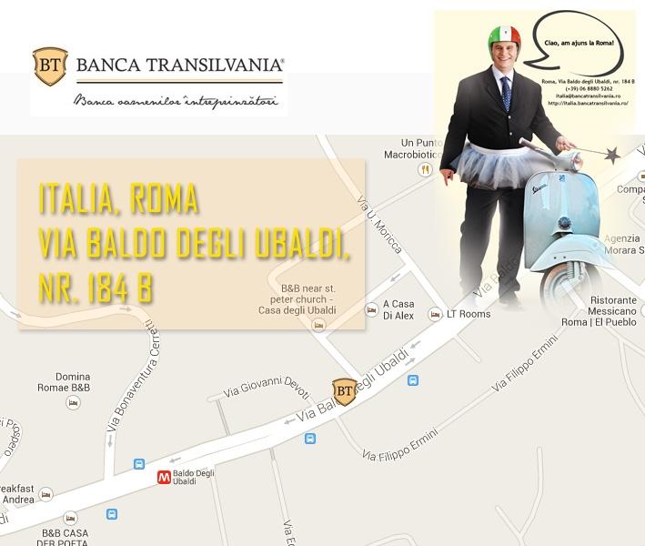 Poza Banca Transilvania a deschis sucursala Italia
