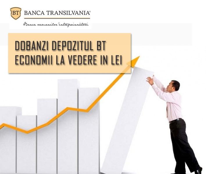 Poza Detalii Dobanzi la Depozitul BT Economii la vedere in LEI
