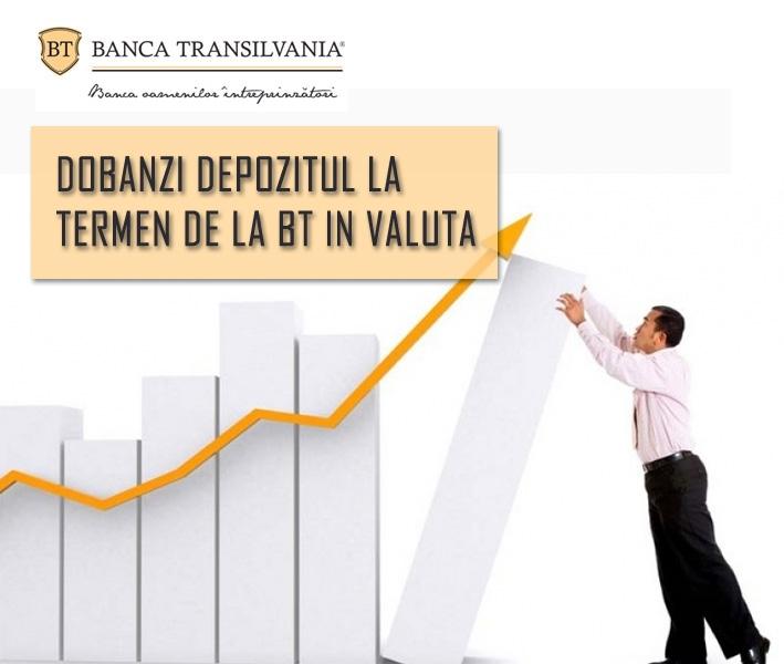 Poza Detalii Dobanzi la Depozitul BT la TERMEN in VALUTA
