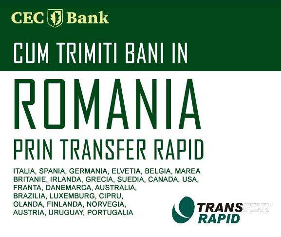 Poza Cum trimit bani din strainatate prin serviciul de Transfer Rapid de la CEC Bank