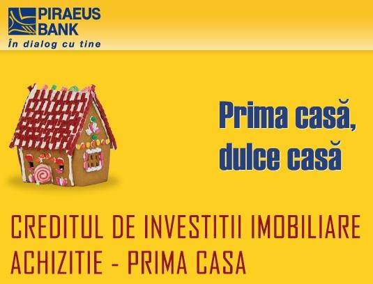 Poza Creditul Prima Casa ACHIZITIE de la Piraeus Bank