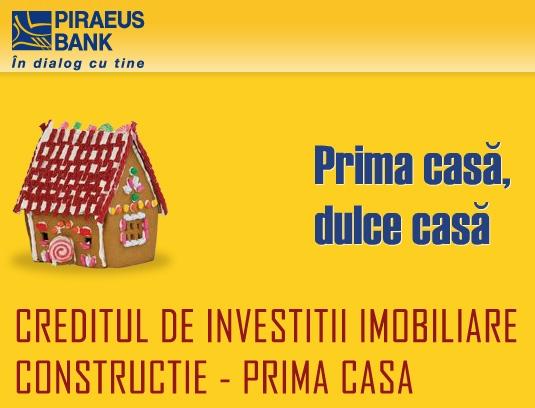 Poza Creditul Prima Casa CONSTRUCTIE de la Piraeus Bank