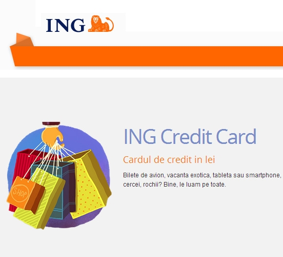 Poza Credit Cardul ING in lei de pana la 50 000 lei