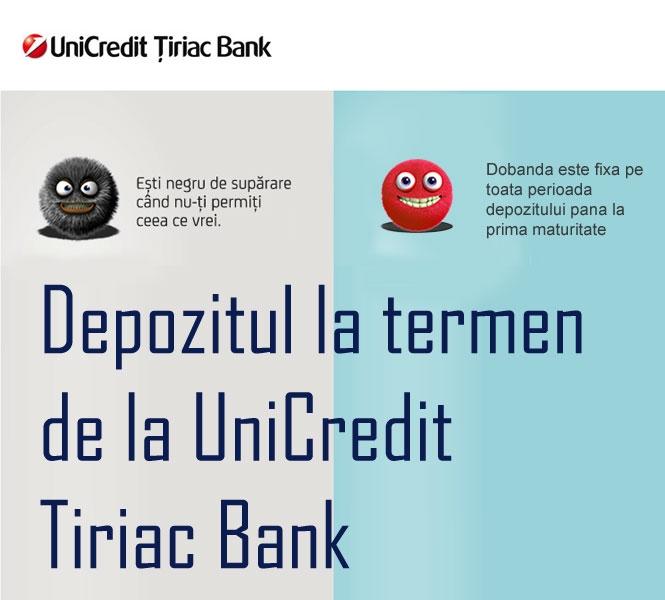 Poza Depozitul la termen de la UniCredit Tiriac Bank