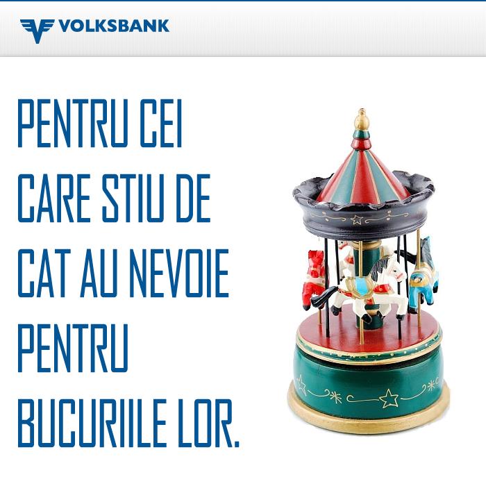 Poza Creditul cu Economii de la Volksbank. Avantaje. Beneficii. Conditii.