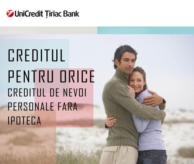 Poza Creditul de nevoi personale fara ipoteca de la Unicredit Tiriac Bank