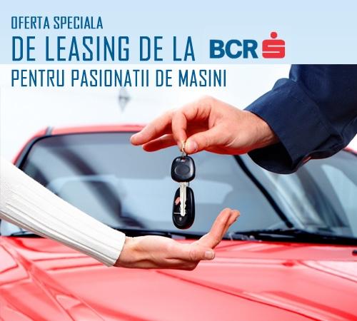 Poza Pasionat de masini? BCR are o oferta speciala de leasing pentru tine