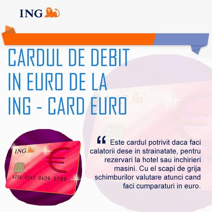 Poza Cardul de debit in euro de la ING Card Euro